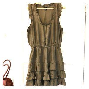 Silk sleeveless midi dress size Large